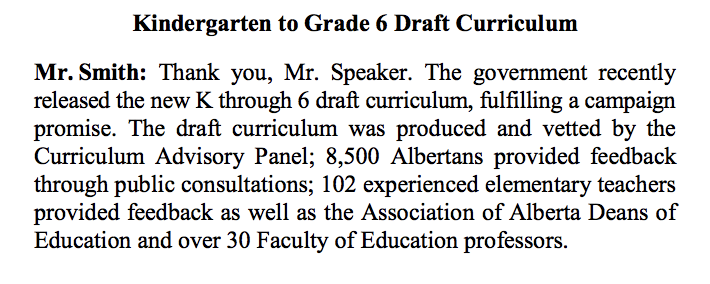 Excerpt from Mr. Smith's Member Statement on April 13, 2021.